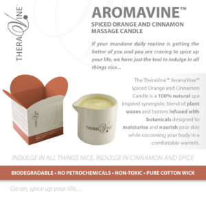 THERAVINE - AromaVine Spiced Orange and Cinnamon Massage Candle (2)