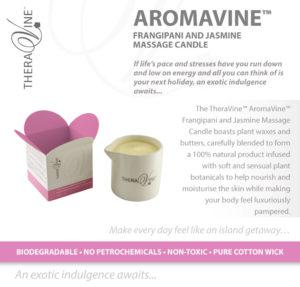 AROMAVINE - Frangipani & Jasmine Massage Candle