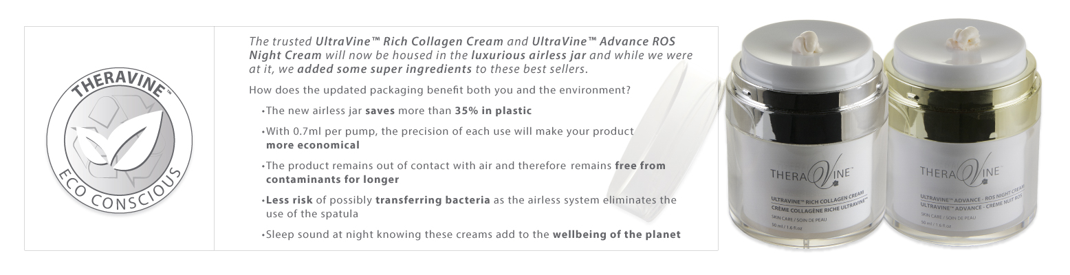 ROS Night Cream and UV Rich Collagen Cream in NEW Eco-Conscious packaging