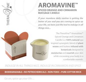 THERAVINE - AromaVine Spiced Orange and Cinnamon Massage Candle (2)
